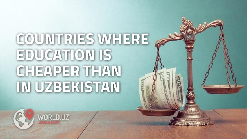 In which countries is it cheaper to study than in Uzbekistan?